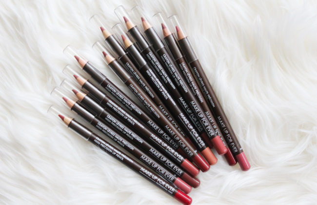 make up for ever high precision lip pencils