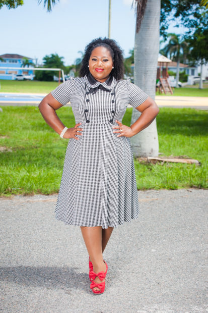 how to wear a gingham print dress