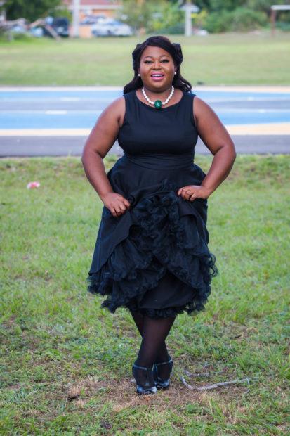 black classy 50s style dress