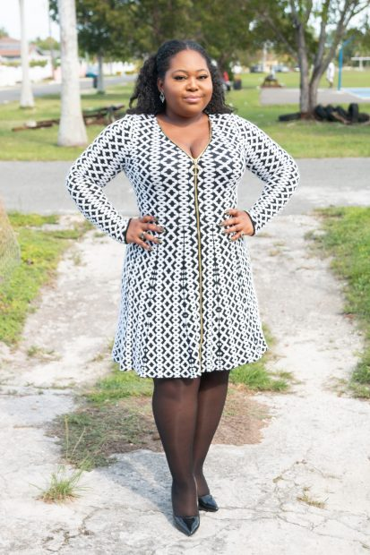 pattern fit and flare dress