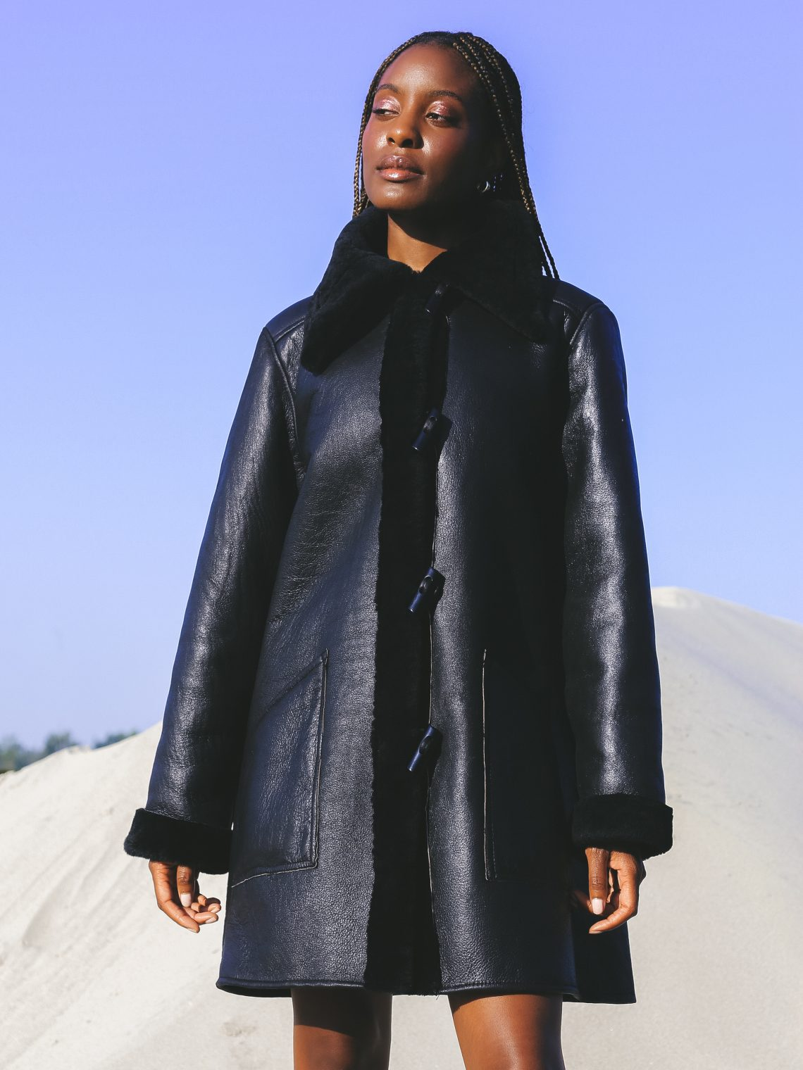 therma kota shearling coats