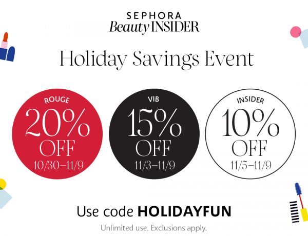 sephora holiday savings event 2020