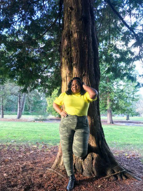 wear a neon yellow sweater
